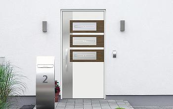 Porte Dentree Aluminium Decor Bois